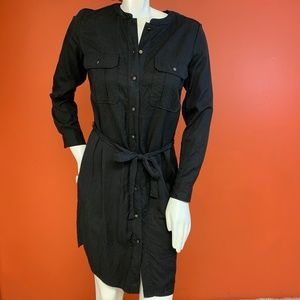 Black Button Down Dress